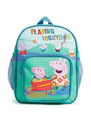 John Lewis & Partners Peppa Pig and George Children's Backpack, Multi