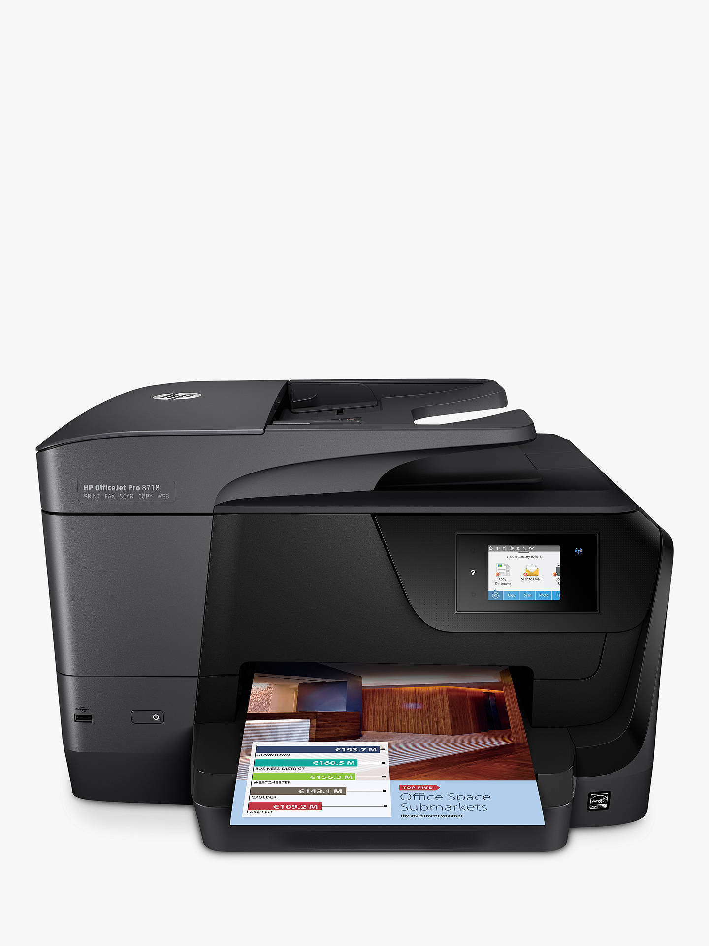 HP OfficeJet Pro 8718 All-in-One Wireless Printer & Fax Machine with Touch  Screen, HP Instant Ink Compatible
