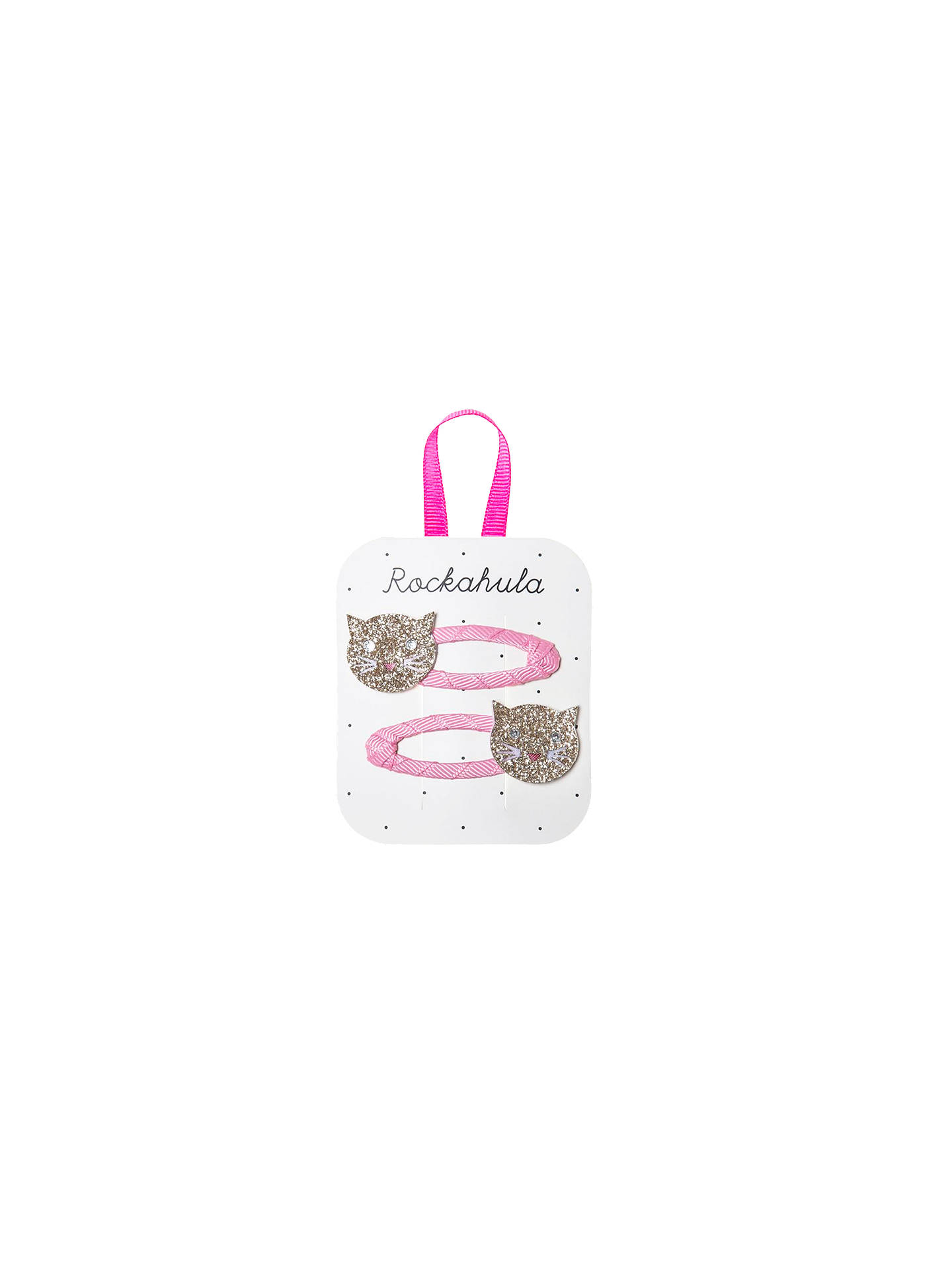 BuyRockahula Children's Glitter Cat Hair Clips, Pack of 2, Pink Online at johnlewis.com