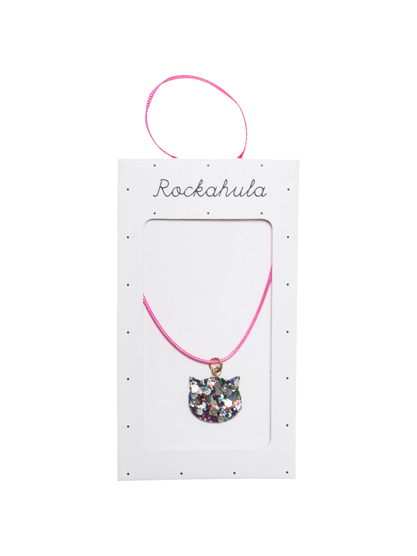 BuyRockahula Children's Glitter Cat Necklace, Pink Online at johnlewis.com