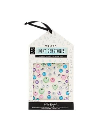 NPW Soko Ready Body Gemstones, Pack of 60, Multi