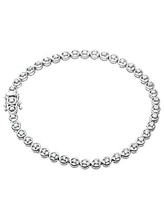 Mogul 9ct White Gold Diamond Tennis Bracelet, 1ct