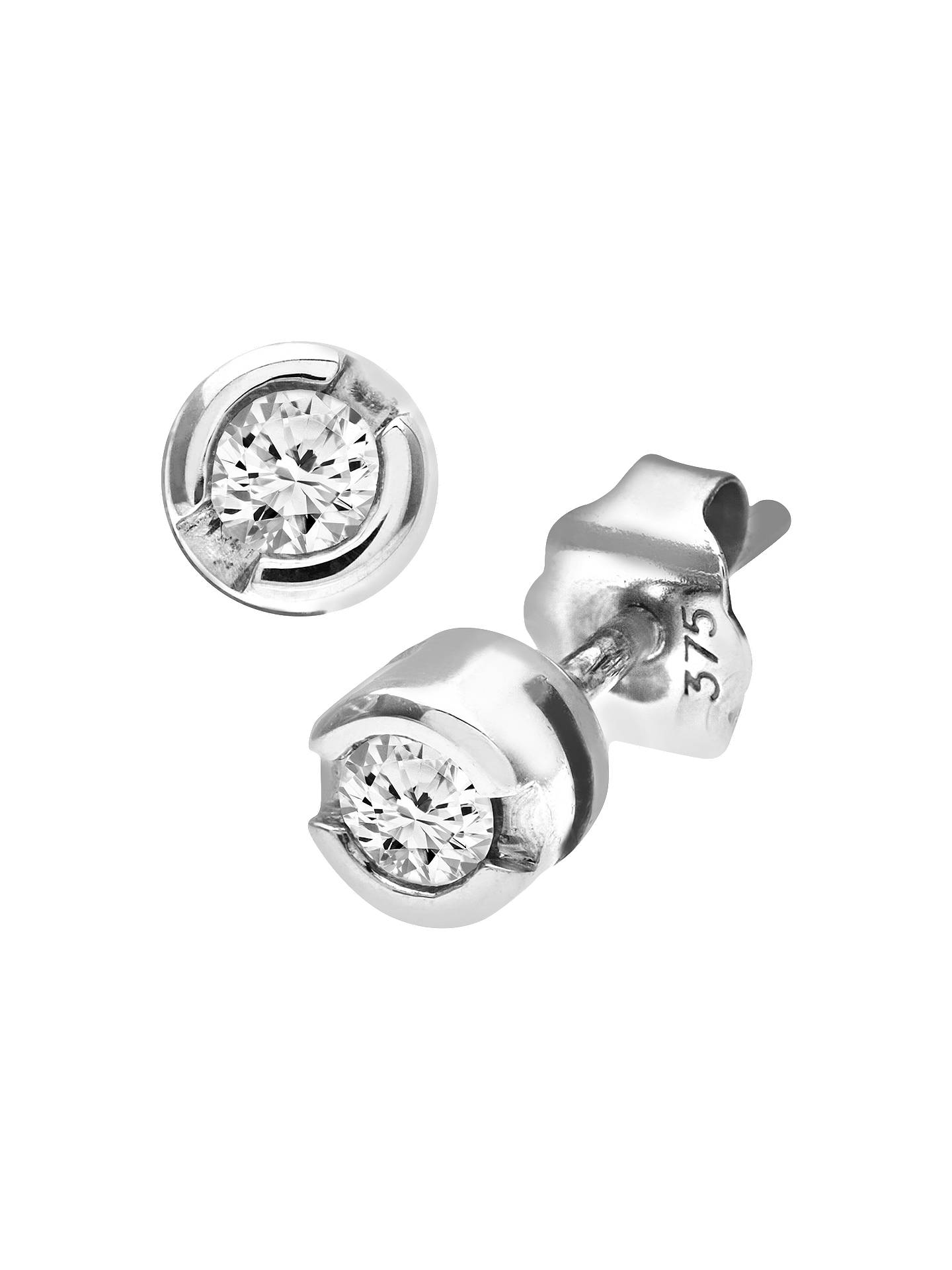 0857d5297 Buy Mogul 9ct White Gold Diamond Round Stud Earrings, 0.15ct Online at  johnlewis.