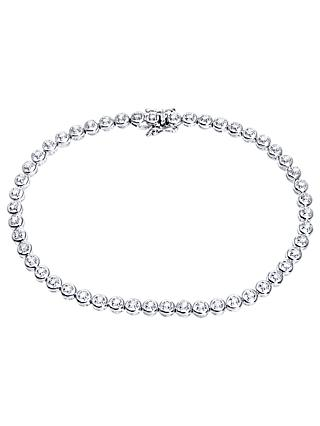 Mogul 9ct White Gold Diamond Tennis Bracelet, 0.50ct