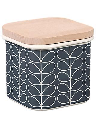 Orla Kiely Linear Stem Enamel Storage Tin, 1.2L