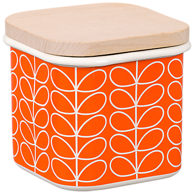 Orla Kiely Linear Stem Enamel Storage Tin, 1.2L