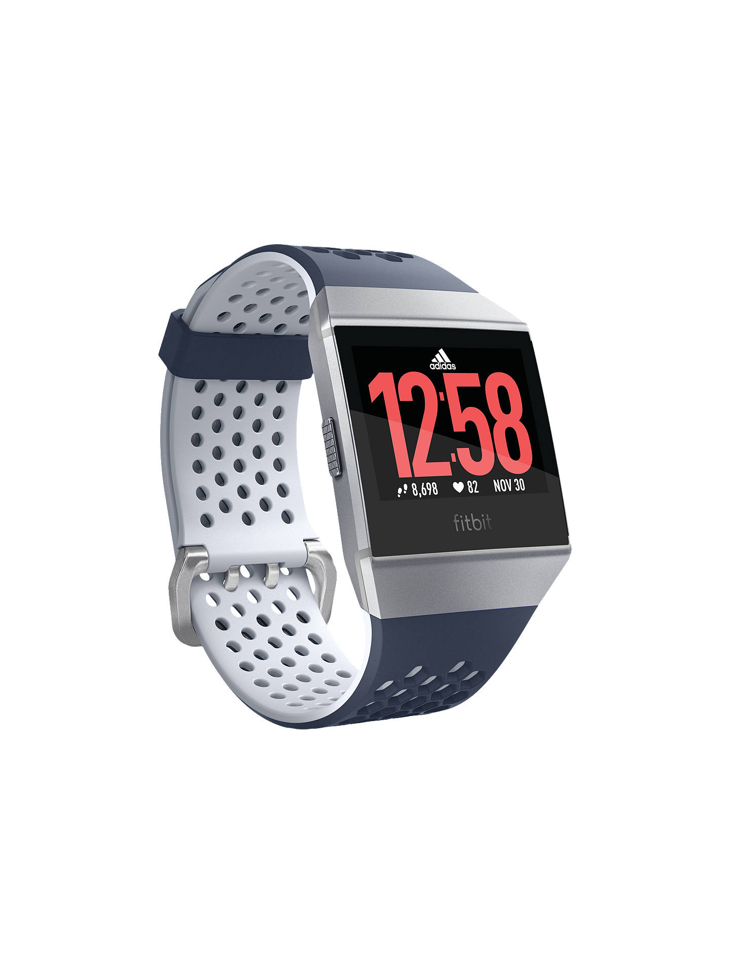39b96b1c32e98 Buy Fitbit Ionic Adidas Edition, Smart Fitness Watch, Ink Blue/Ice Grey  Online ...