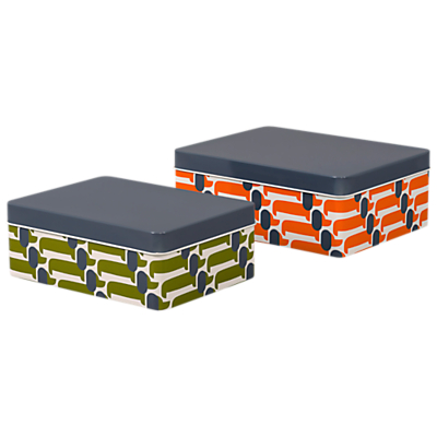 Orla Kiely Dog Show Kitchen Storage Tins, Set of 2, Multi