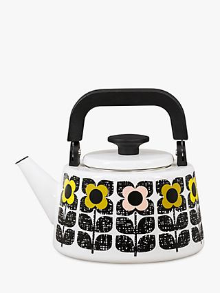 Orla Kiely Square Flower Hob Kettle, Yellow/Multi, 2L