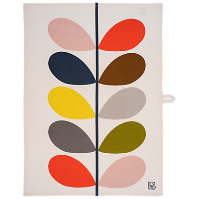 Orla Kiely Stem Print Tea Towels, Set of 2, Grey/Multi