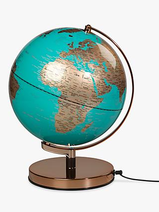 "Wild & Wolf Copper and Blue 10"" Globe"