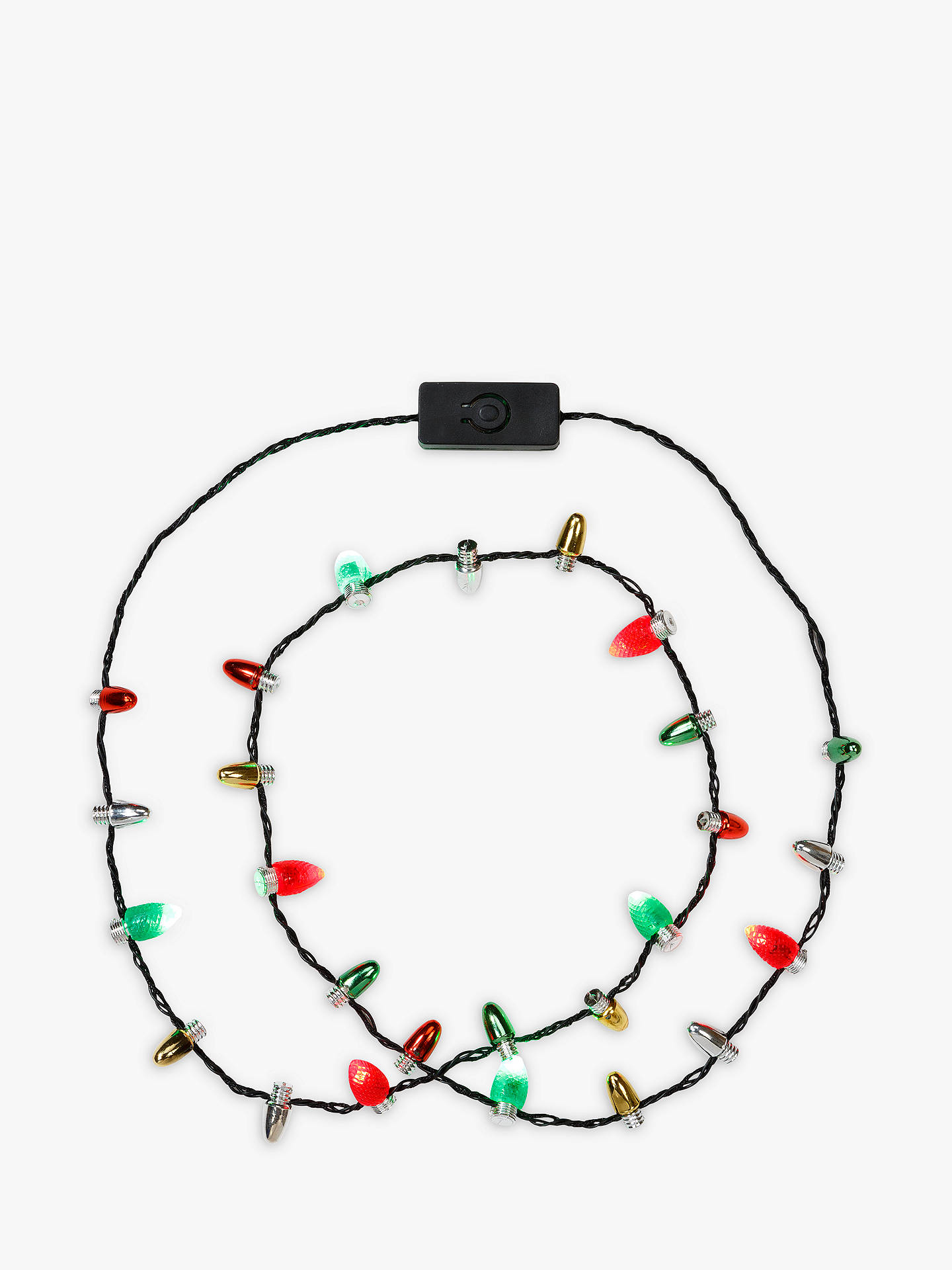 Christmas Light Necklace.Talking Tables Christmas Light Up Necklace