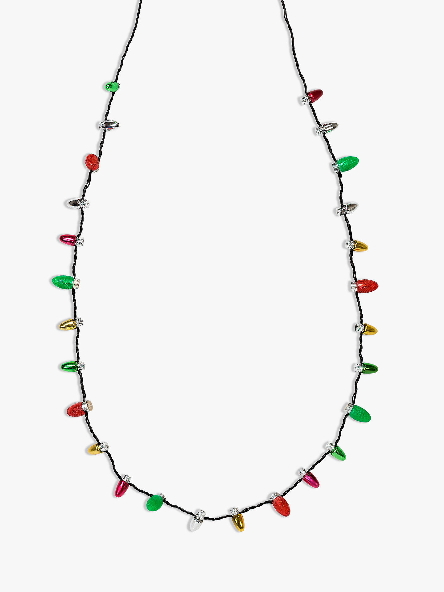 Buy Talking Tables Christmas Light Up Necklace Online at johnlewis.com