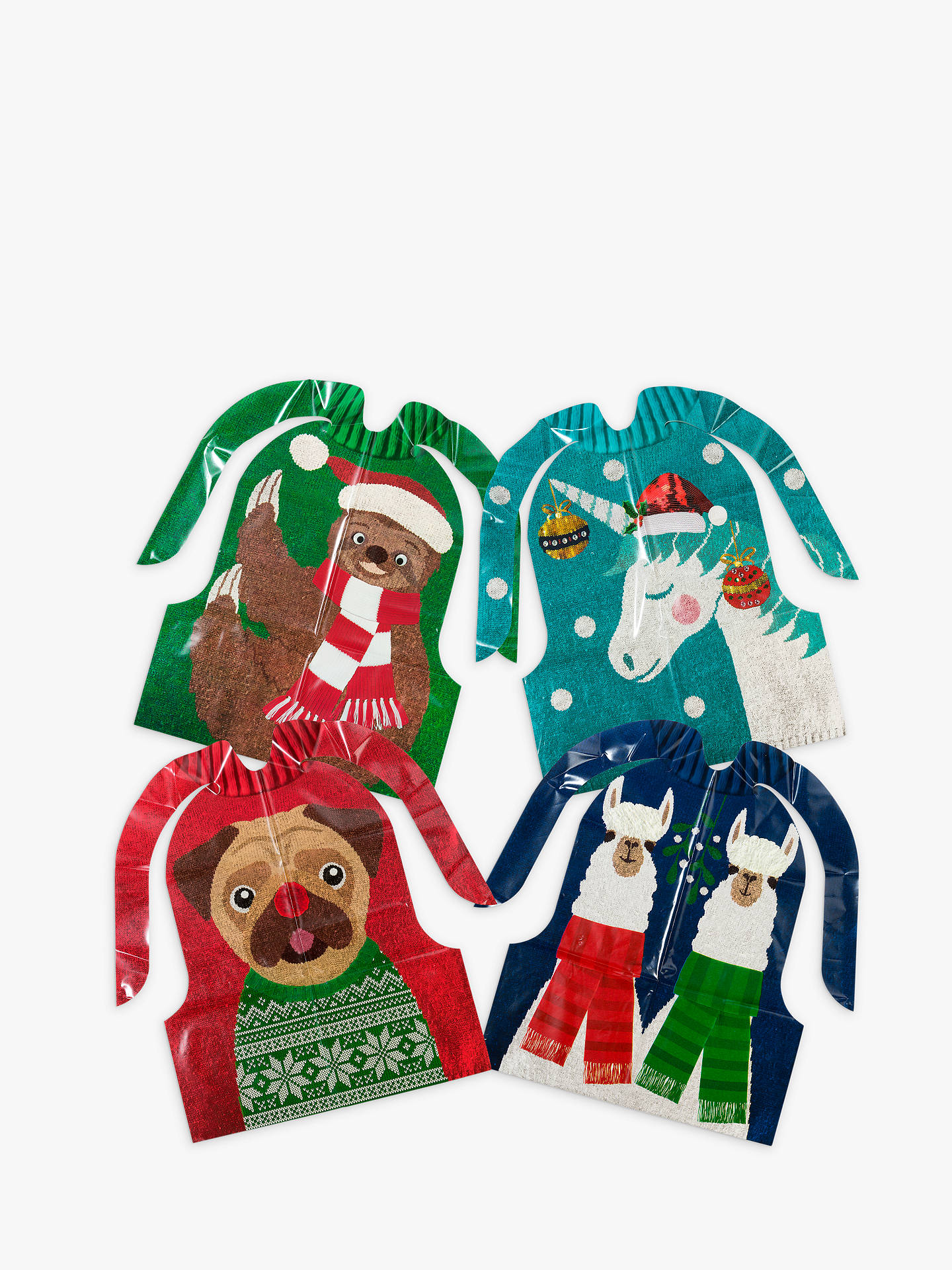 Buy Talking Tables Christmas Bibs, Pack of 8 Online at johnlewis.com