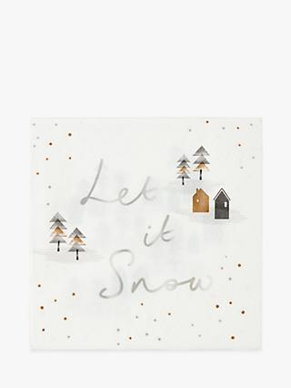 Talking Tables Let it Snow Christmas Napkins, Pack of 20