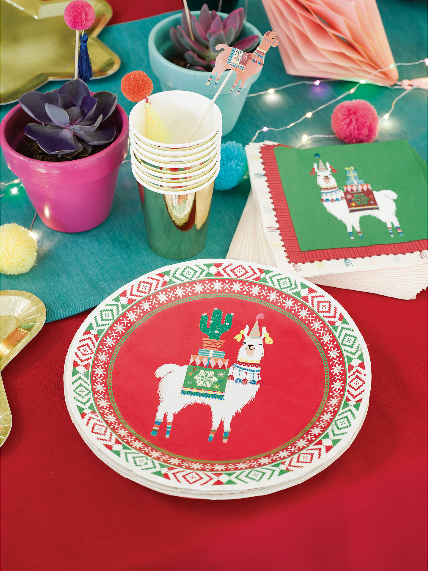 Buy Talking Tables Festive LLama Napkin, Pack of 30 Online at johnlewis.com
