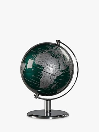 "Wild & Wolf Green & Chrome 6"" Globe"