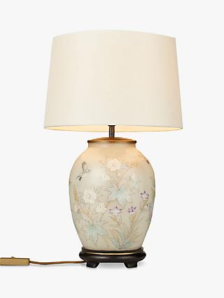 Jenny Worrall Pastel Fl Lamp Base With John Lewis Gemma Silk Tapered Lampshade Multi