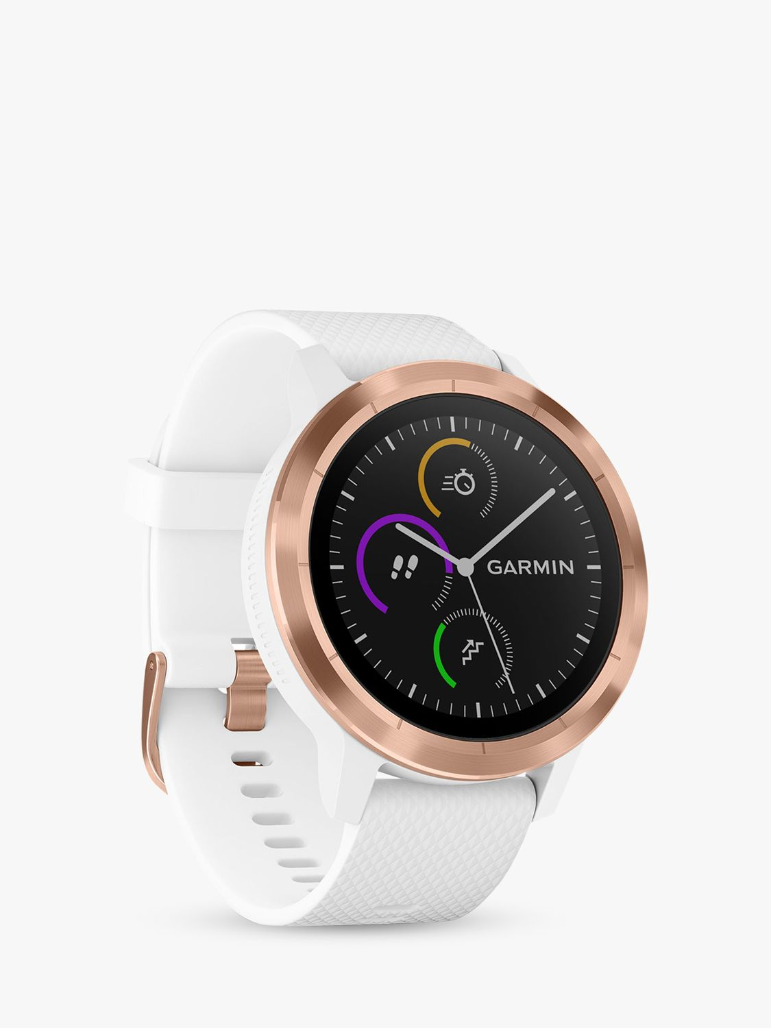 Garmin Garmin Vivoactive 3 GPS Smartwatch with Contactless Payment and HR, White/Rose Gold