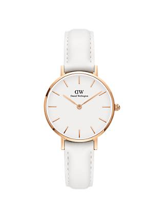 Daniel Wellington Unisex Leather Strap Watch
