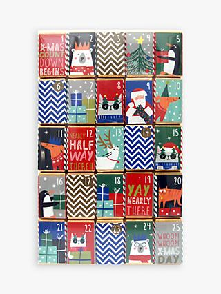 house of dorchester christmas characters chocolate advent calendar 250g