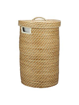 John Lewis Partners Jasmine Seagr Laundry Basket
