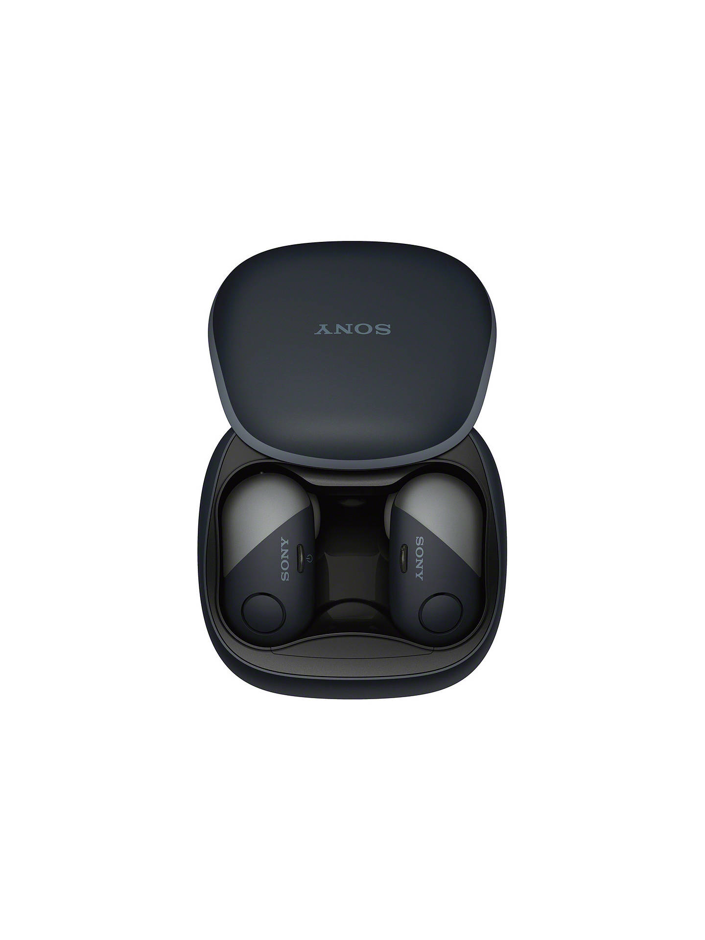 BuySony WF-SP700N Noise Cancelling True Wireless Bluetooth NFC Splash Resistant Sports In-Ear Headphones with Mic/Remote, Black Online at johnlewis.com