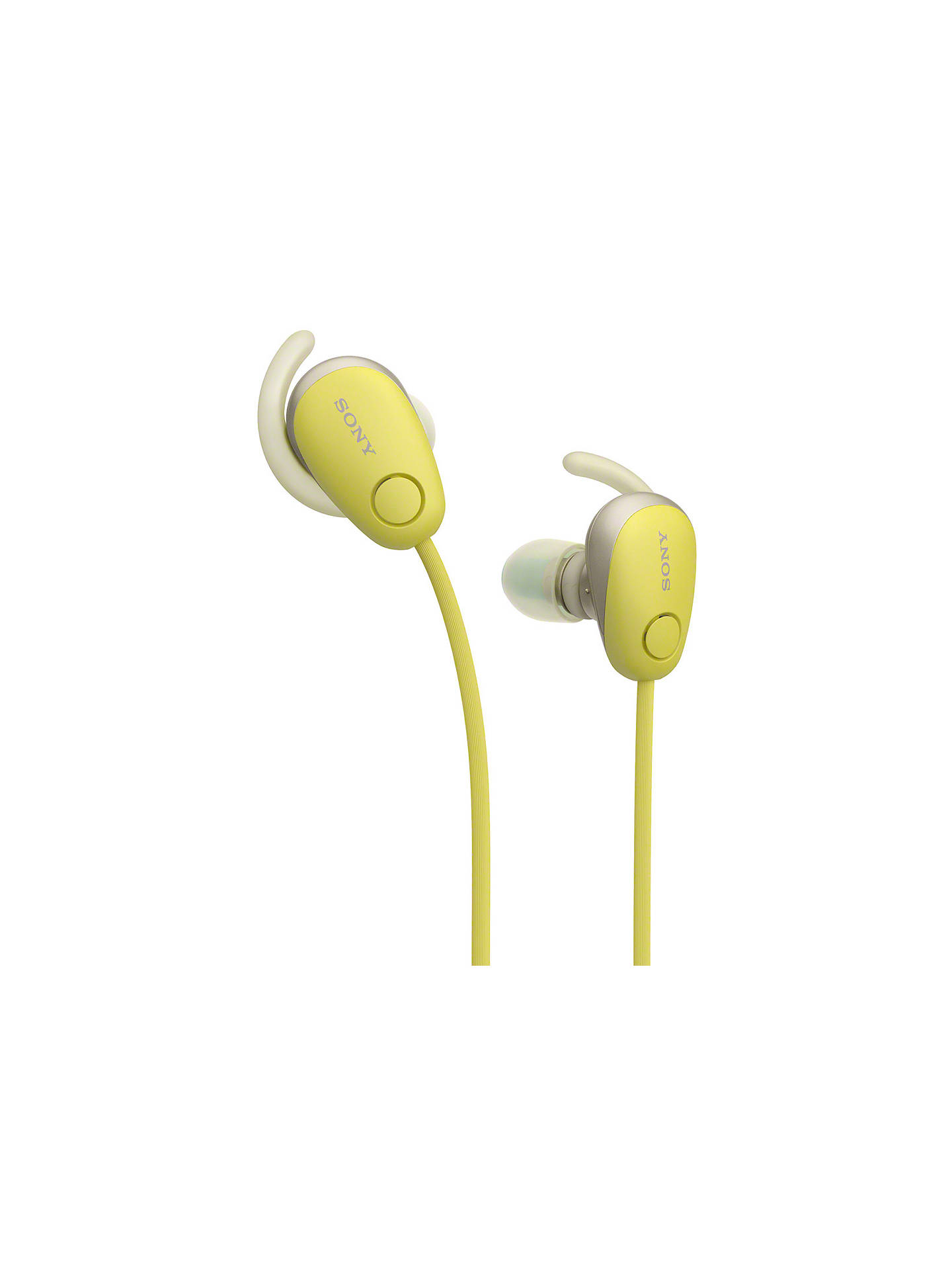 BuySony WI-SP600N Noise Cancelling Bluetooth NFC Splash Resistant Wireless Sports In-Ear Headphones with Mic/Remote, Yellow Online at johnlewis.com