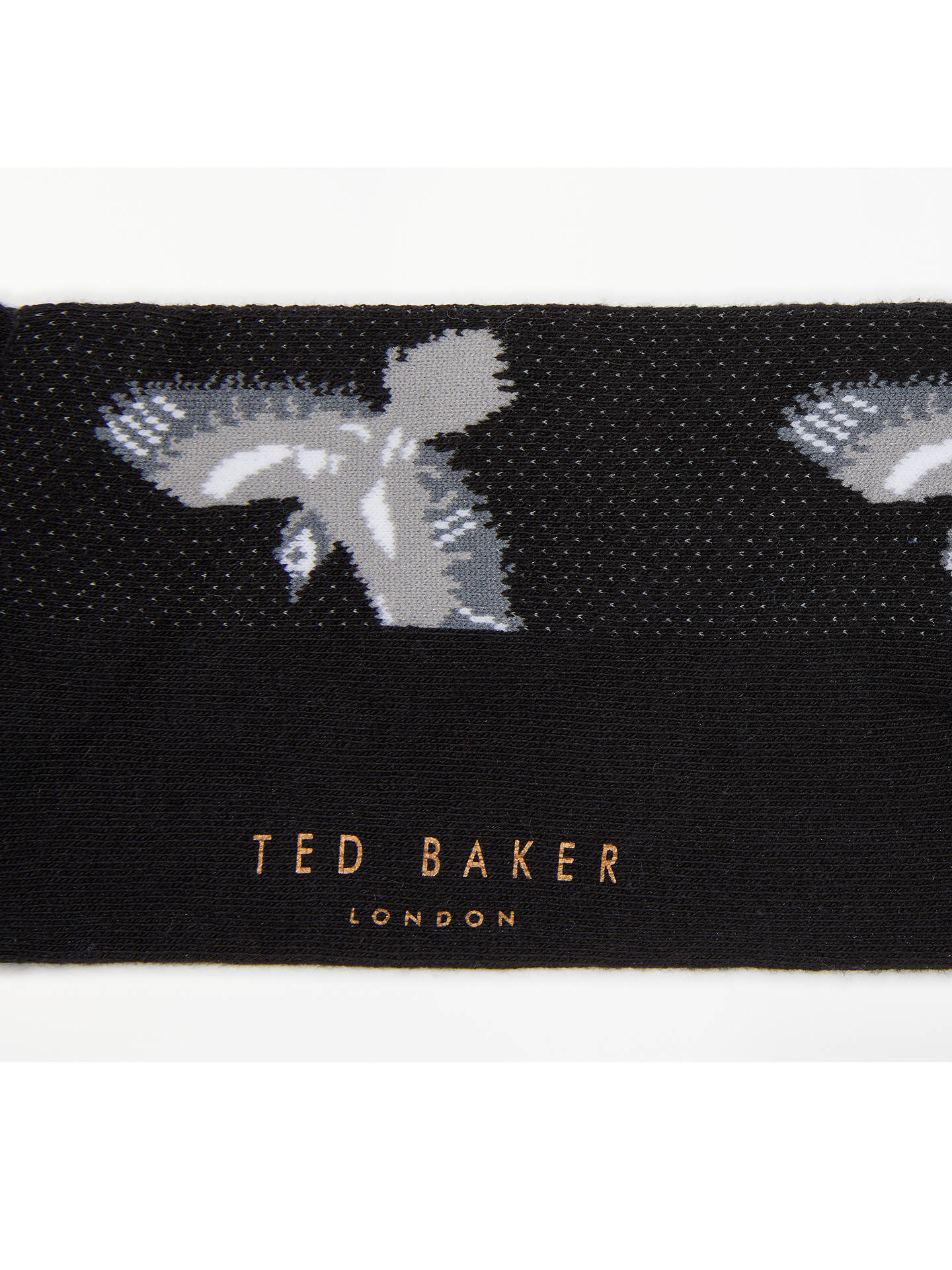 Buy Ted Baker Bird Socks, One Size, Black Online at johnlewis.com