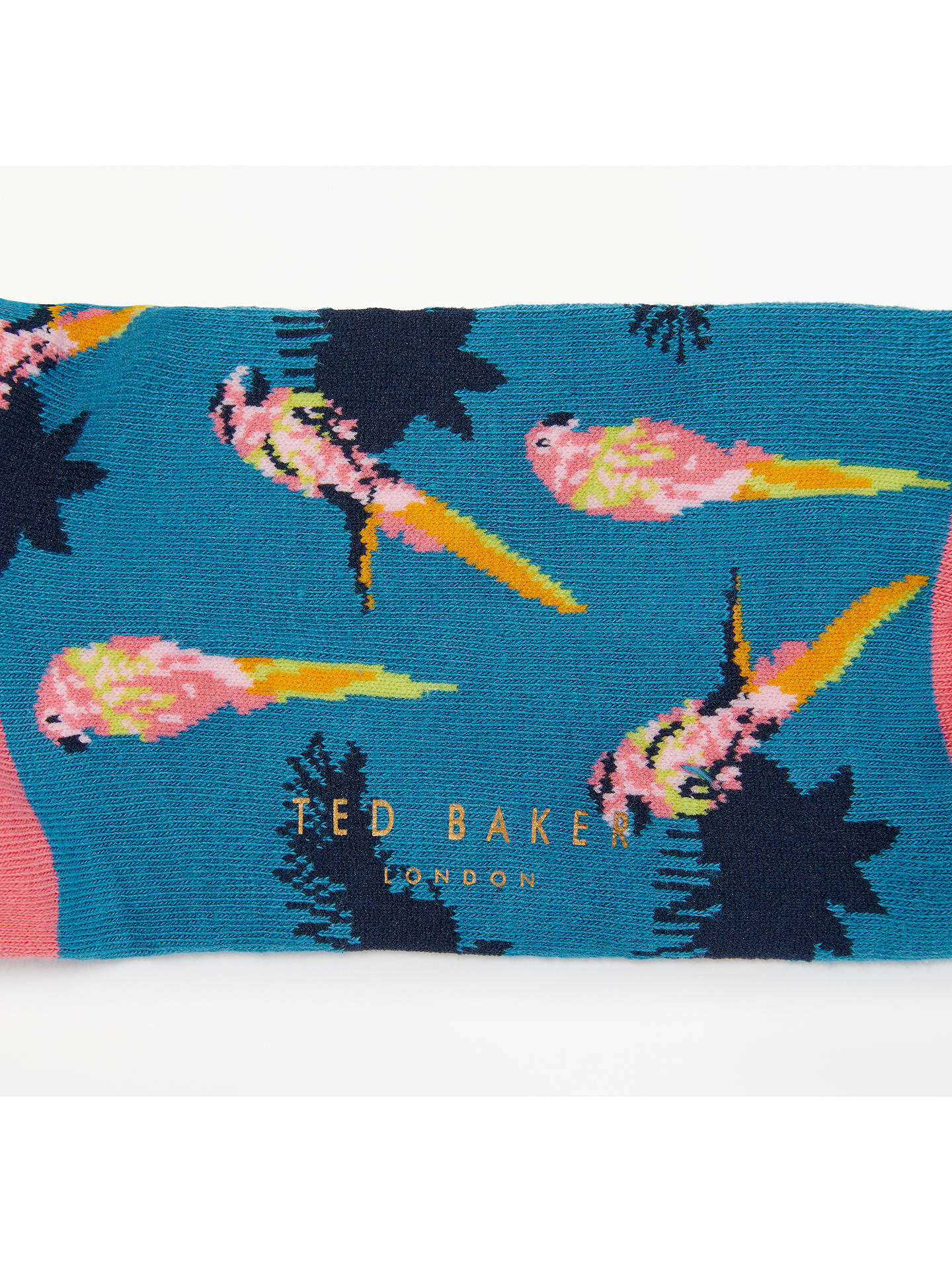 BuyTed Baker Mitar Parrot Socks, One Size, Blue/Pink Online at johnlewis.com