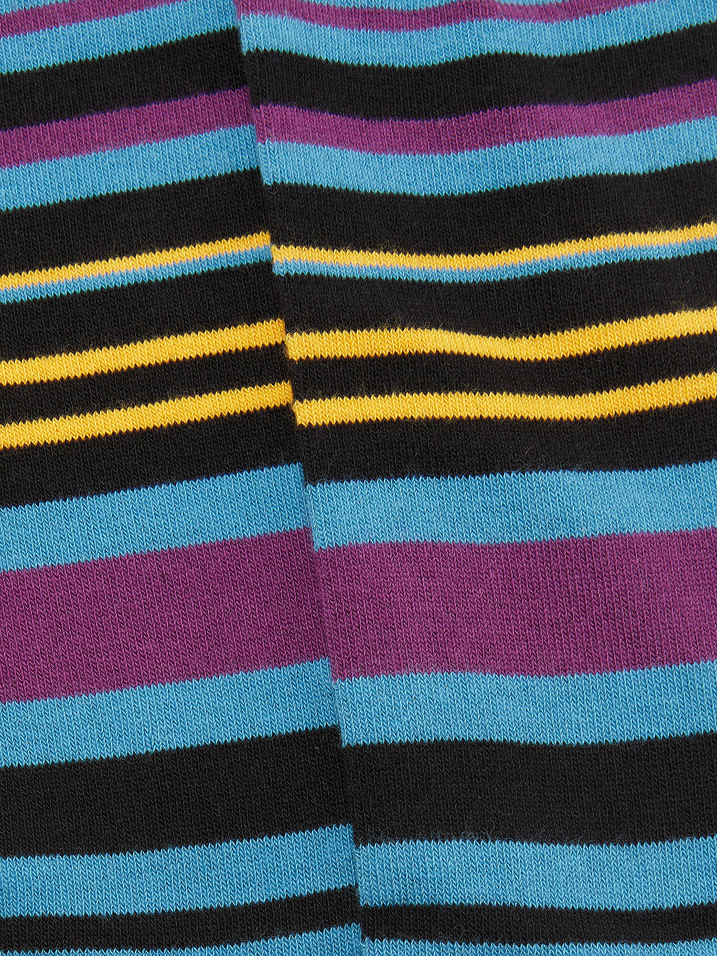 BuyTed Baker Stripe Socks, Black/Multi Online at johnlewis.com
