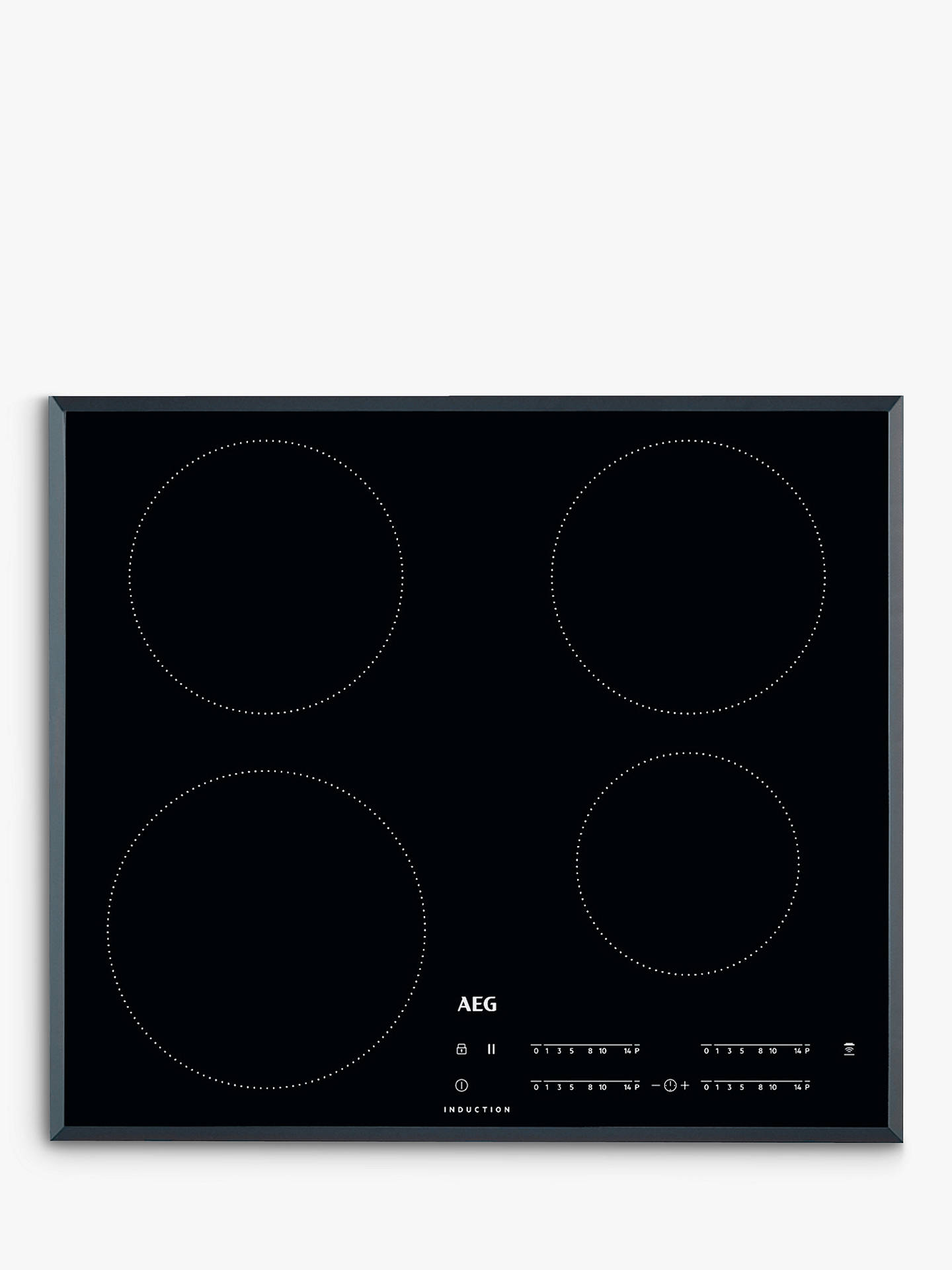 Aeg Ikb64401fb 56cm Induction Hob  Black At John Lewis