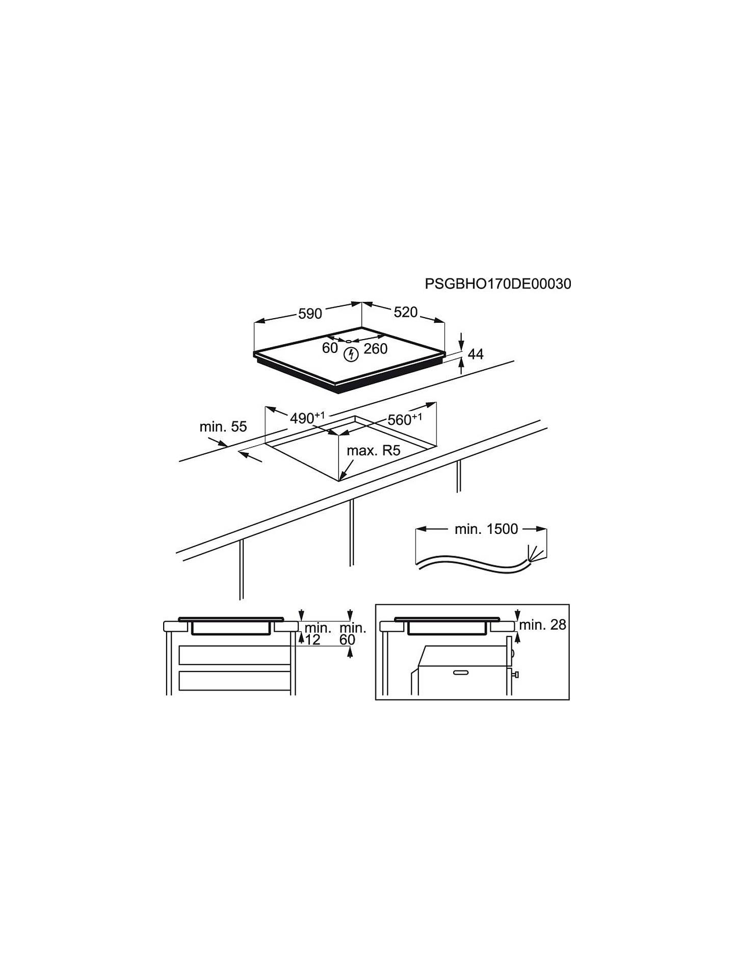 AEG IKE64450FB 59cm MaxiSense Induction Hob, Black on
