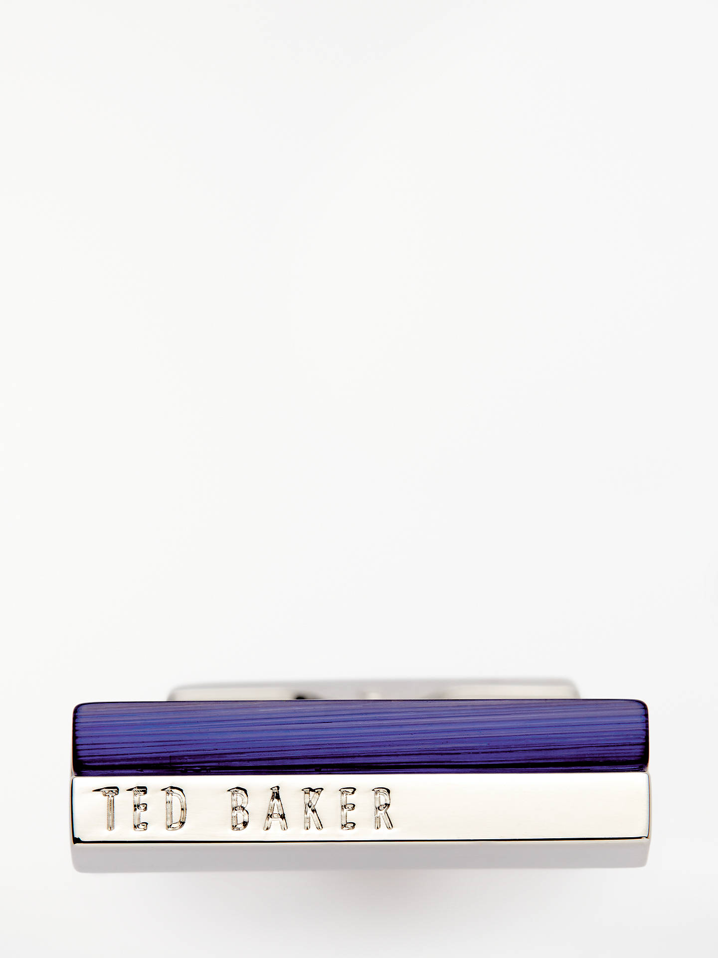 Buy Ted Baker Walla Stone Bar Cufflinks, Silver/Blue Online at johnlewis.com