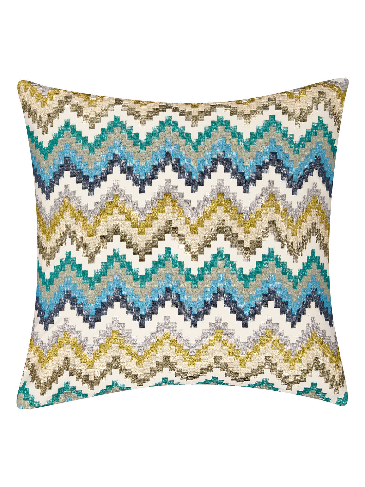 BuyHarlequin Minouri Cushion, Emerald / Ochre / Slate Online at johnlewis.com