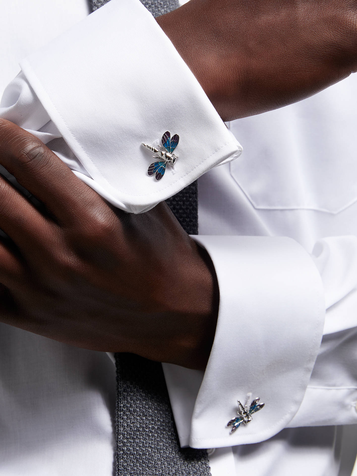 Buy Ted Baker Dragonfly Cufflinks, Purple Online at johnlewis.com