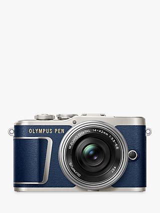"Olympus PEN E-PL9 Compact System Camera with 14-42mm EZ Lens, 4K Ultra HD, 16.1MP, Wi-Fi, Bluetooth, 3"" Tiltable LCD Touch Screen"