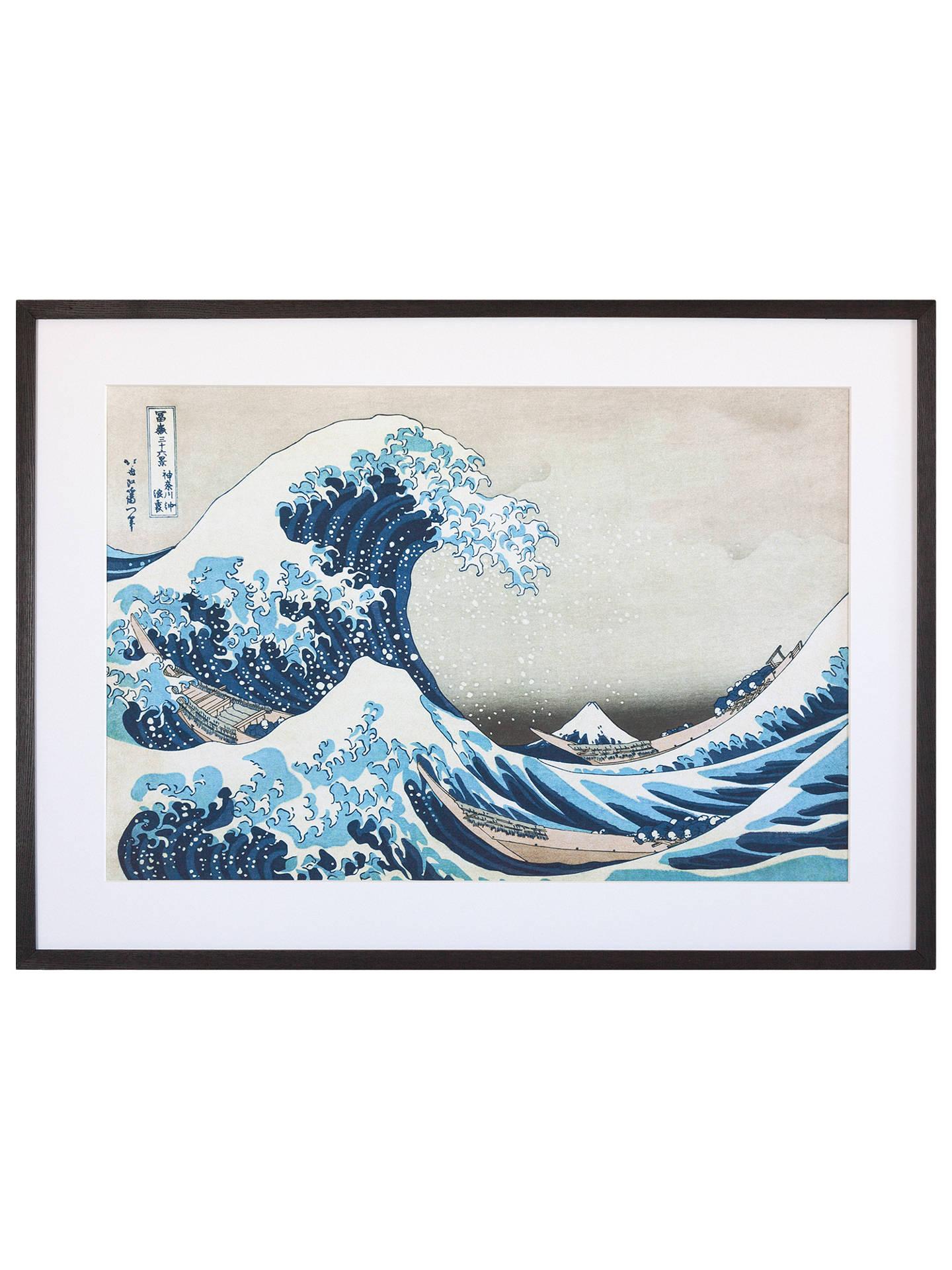 31fc581e4 Buy Katsushika Hokusai - The Great Wave off Kanagawa, Grey Painted Ash  Framed Print Online