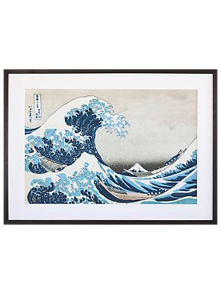 Katsushika Hokusai - The Great Wave off Kanagawa, Grey Painted Ash Framed Print