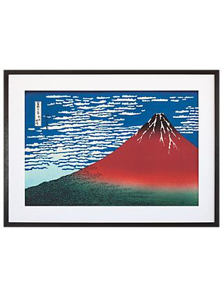 Katsushika Hokusai - Red Fuji, Grey Painted Ash Framed Print