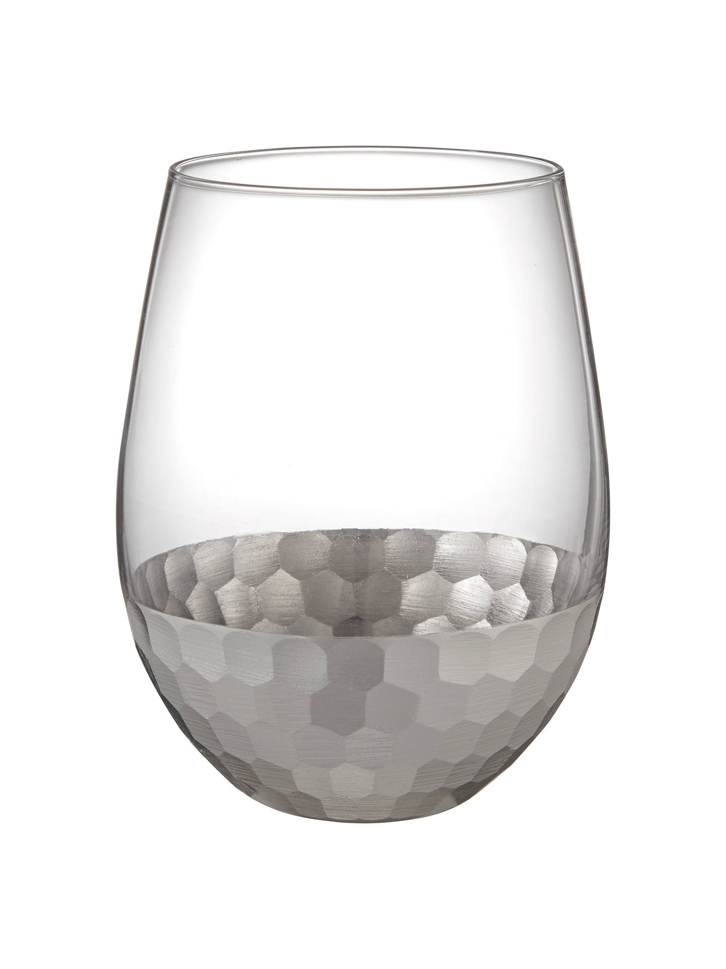 john-lewis-&-partners-gleam-hammered-glass-tumbler,-500ml,-silver_clear by john-lewis-&-partners