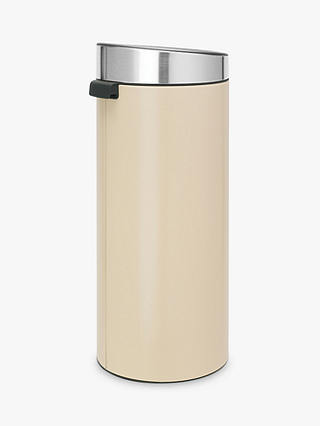 Buy Brabantia Touch Bin, Almond, 30L Online at johnlewis.com