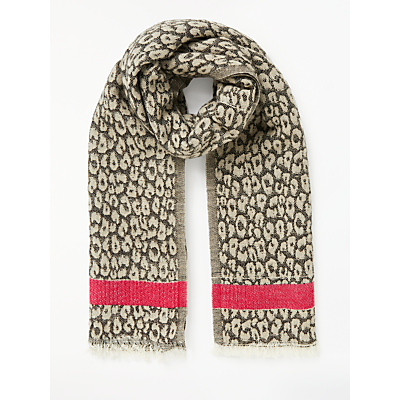 Collection WEEKEND by John Lewis Leopard Jacquard Print Scarf, Black/Multi