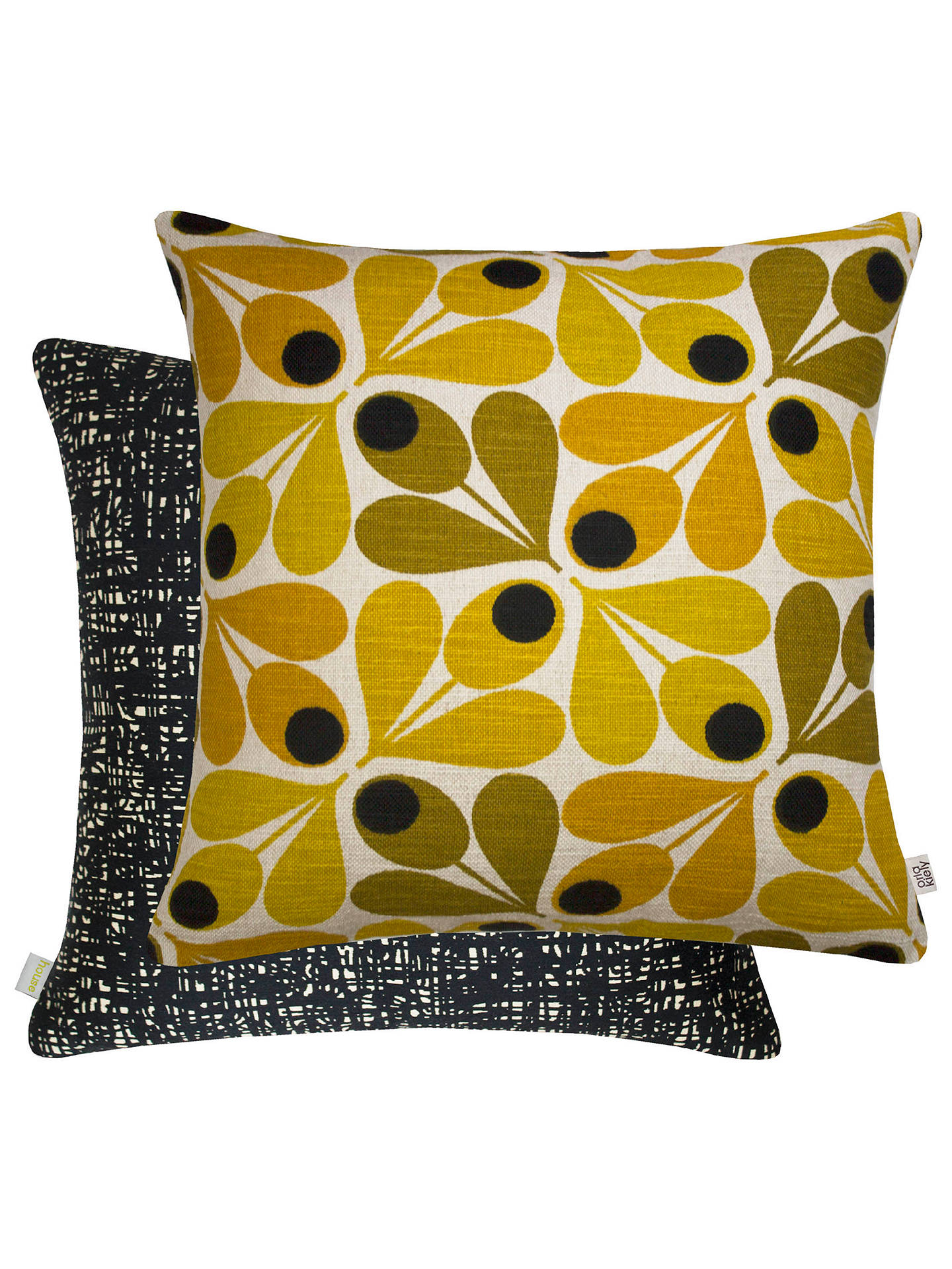 BuyOrla Kiely Acorn Cup Cushion, Saffron Online at johnlewis.com