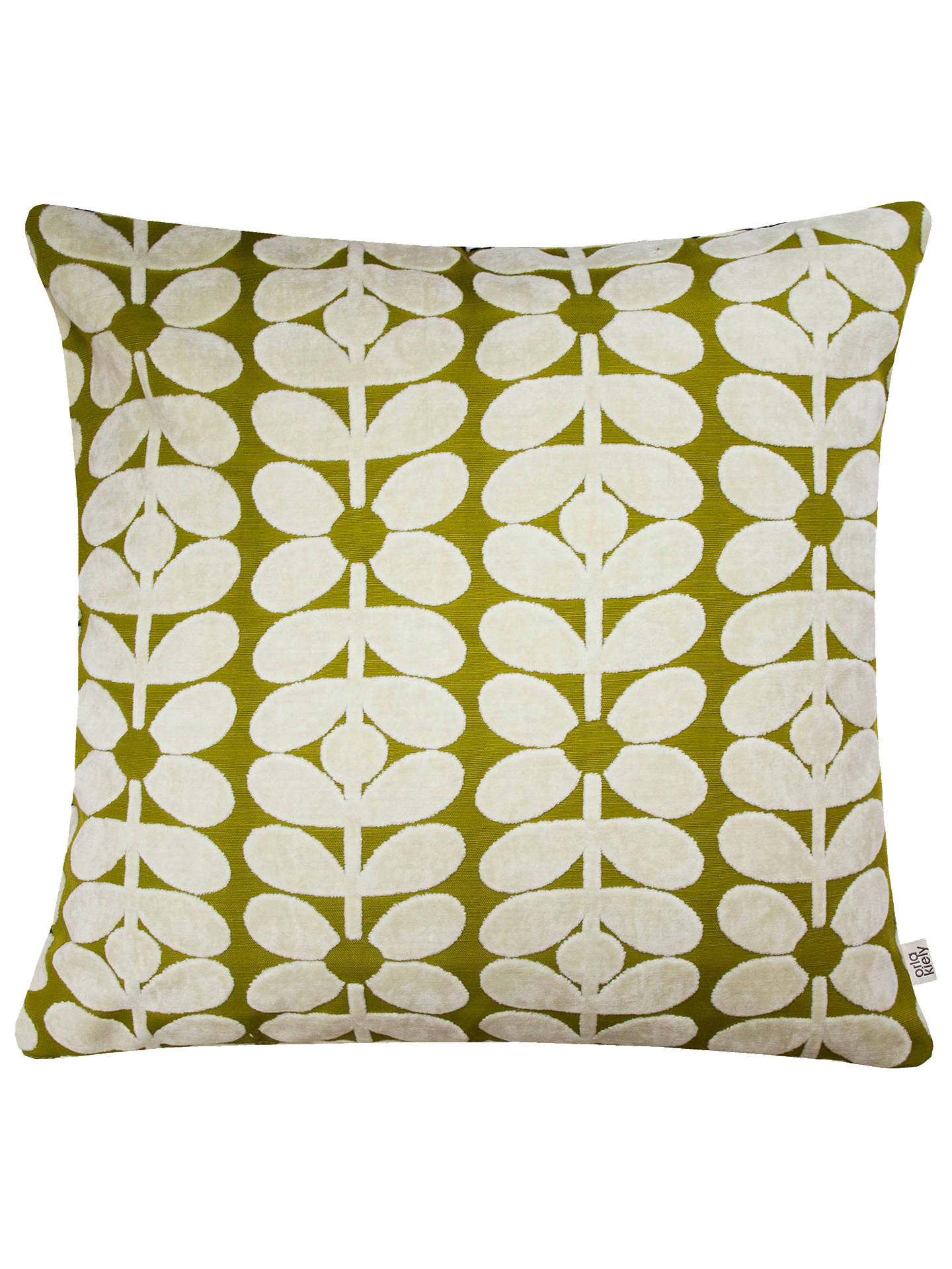 BuyOrla Kiely 60s Stem Cushion, Olive Online at johnlewis.com