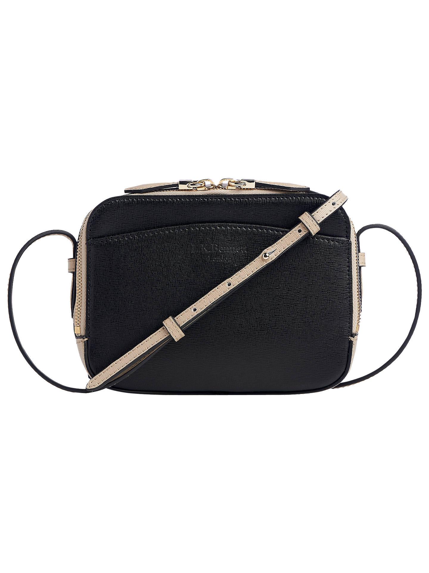 329b2ebb8157 Buy L.K.Bennett Mariel Leather Cross Body Bag, Taupe/Black Online at  johnlewis.