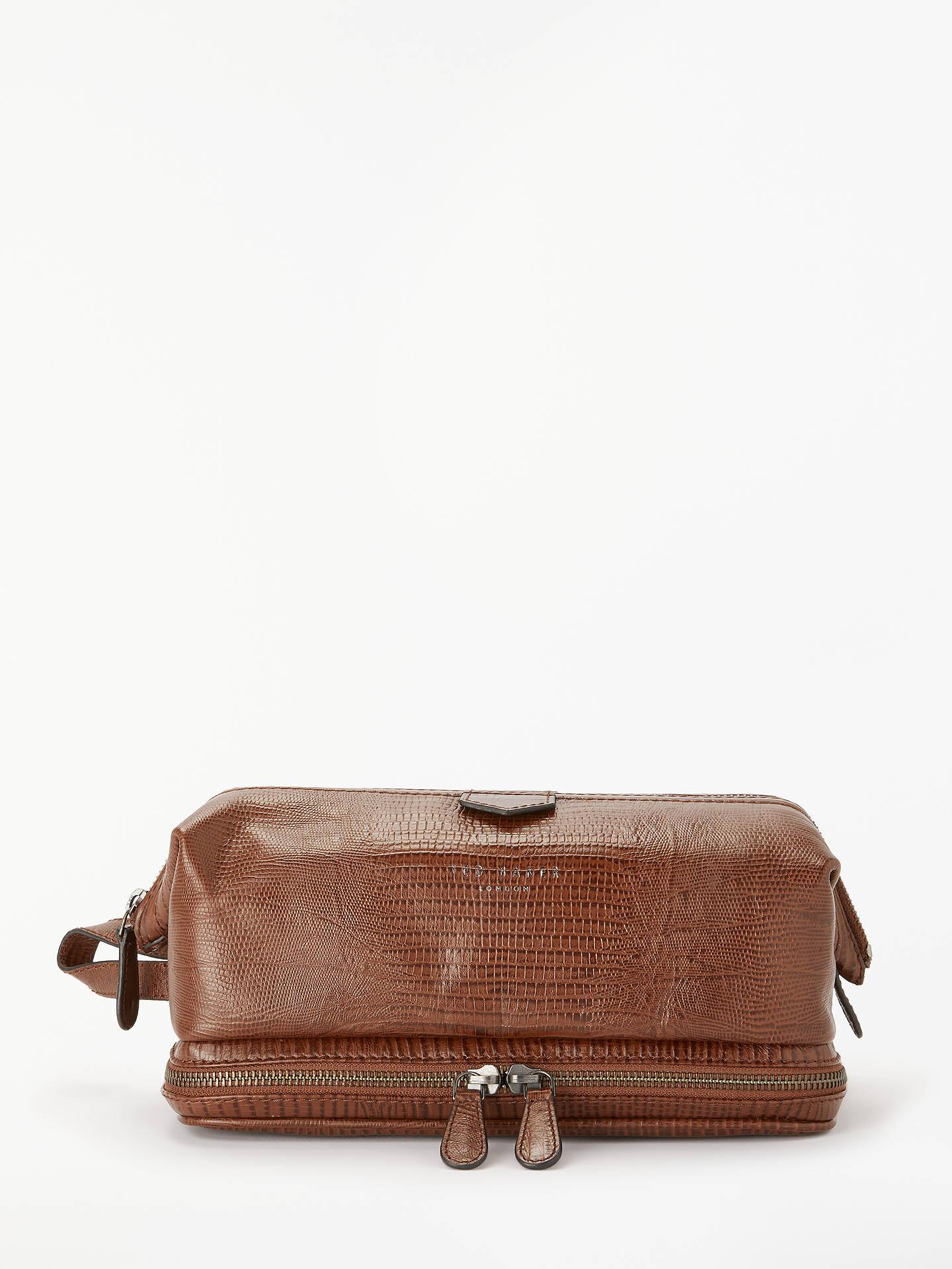 4581d3d398cb Buy Ted Baker Chocks Croc Effect Leather Wash Bag