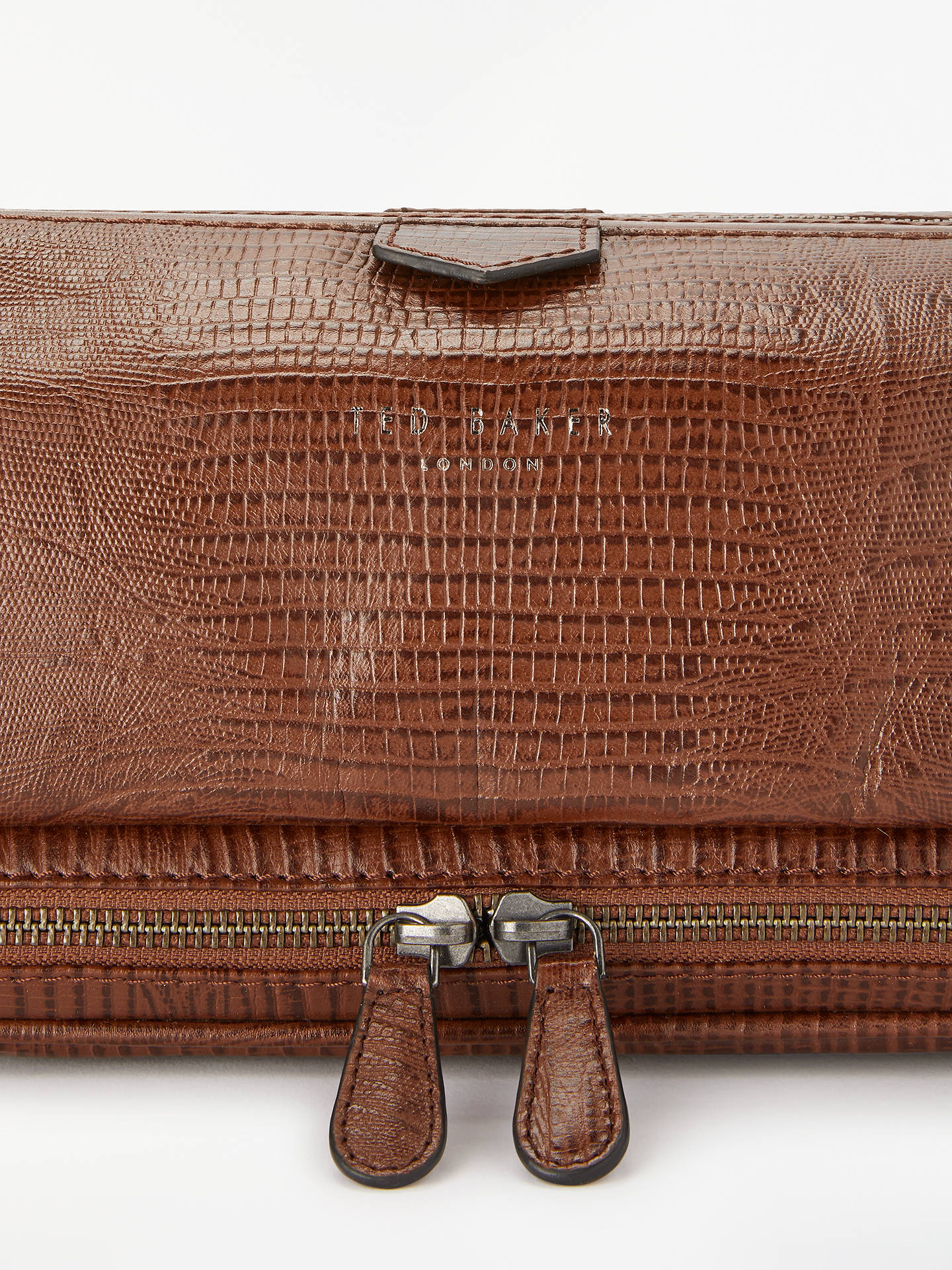 41a07a079 ... Buy Ted Baker Chocks Croc Effect Leather Wash Bag