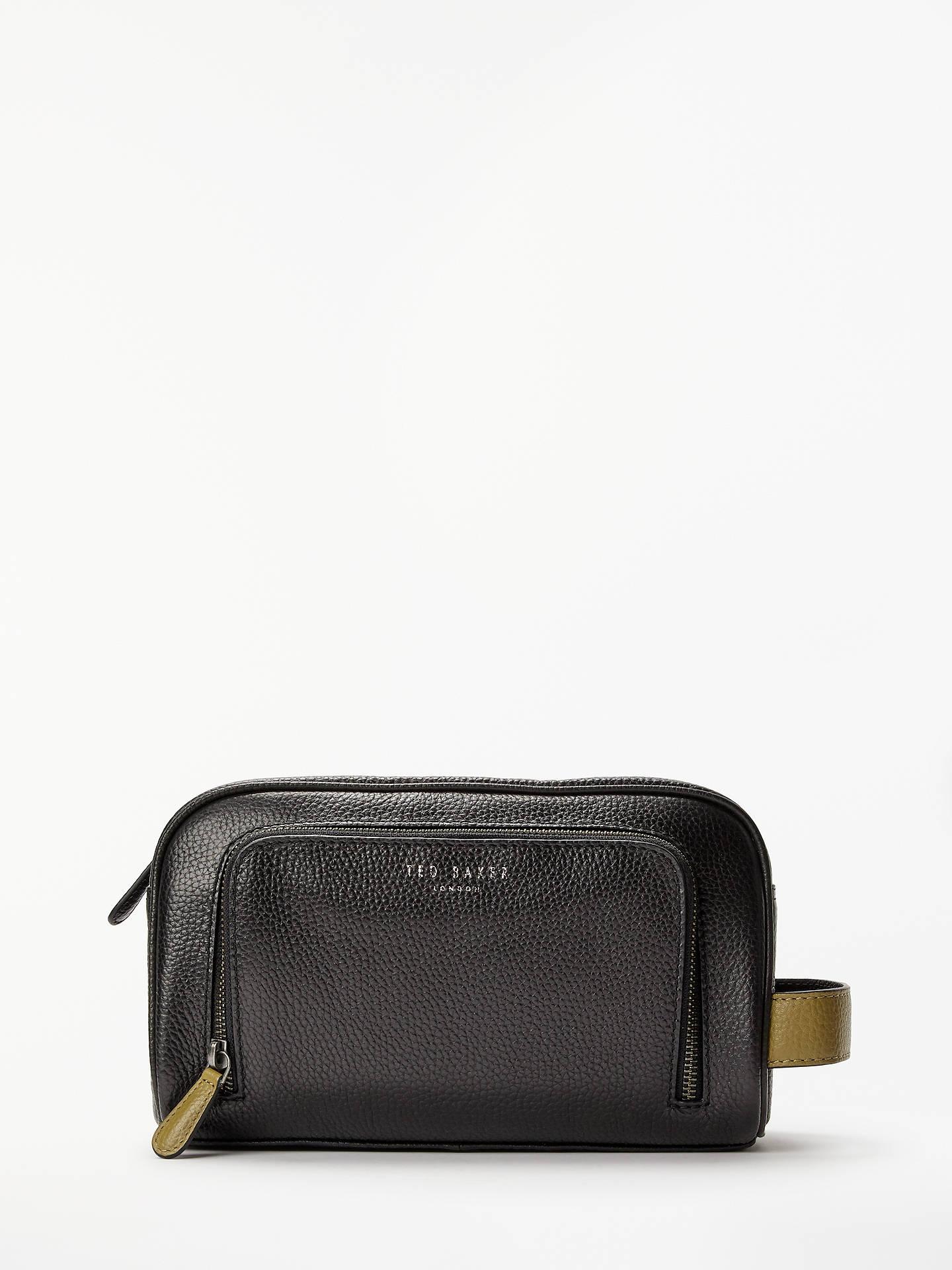 BuyTed Baker Soaps Leather Washbag, Black Online at johnlewis.com ... 0fa6b50629