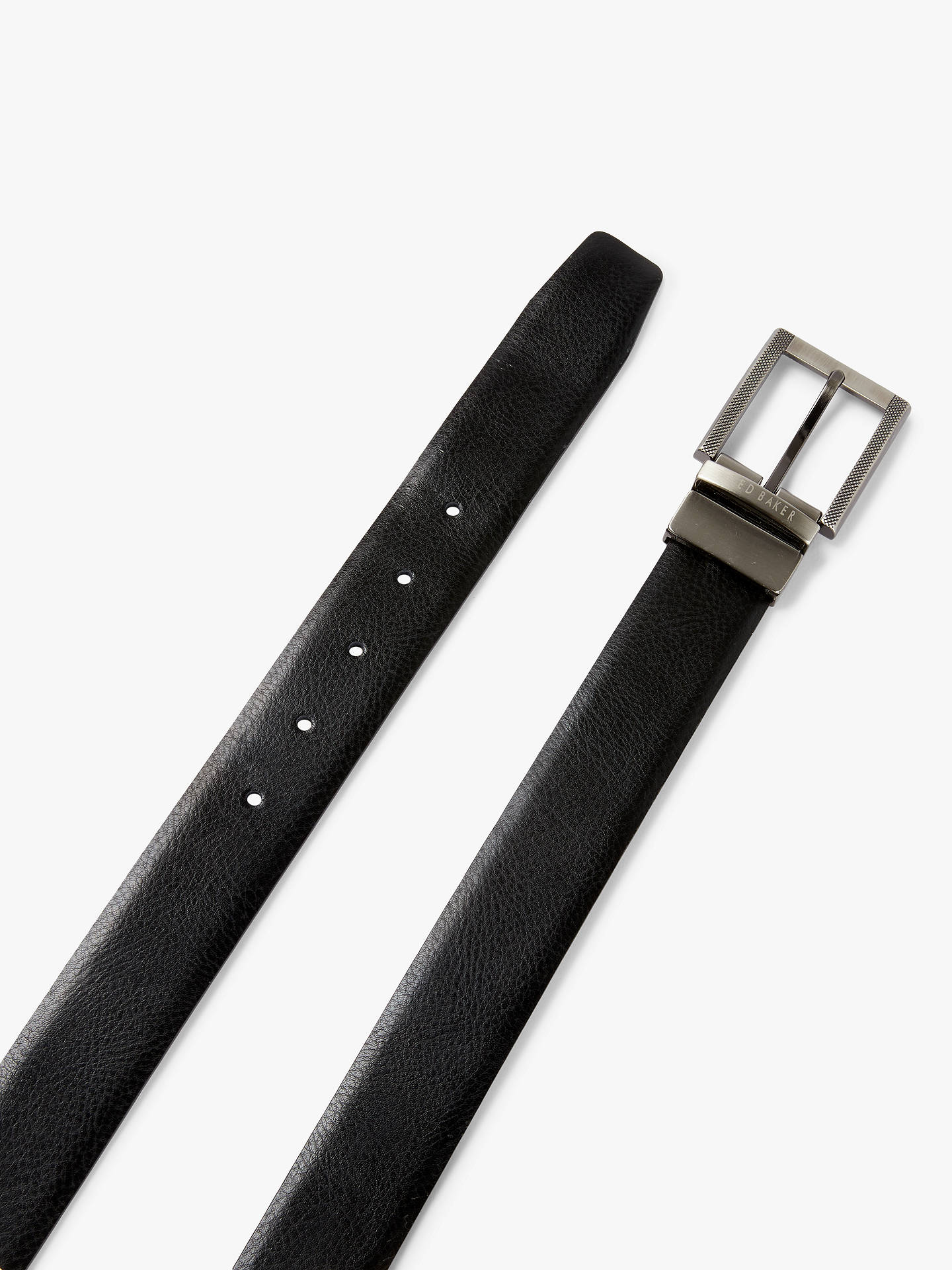 Buy Ted Baker Burggs Two Buckle Belt Gift Set, One Size, Black Online at johnlewis.com